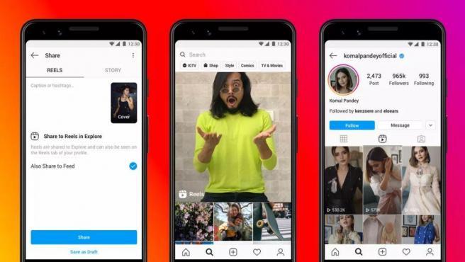 Instagram Reels es una función para crear y publicar vídeos cortos.