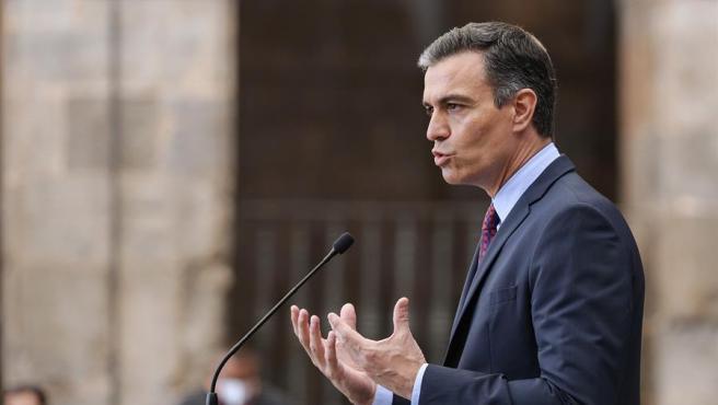 El presidente del Gobierno, Pedro Sánchez, este viernes.