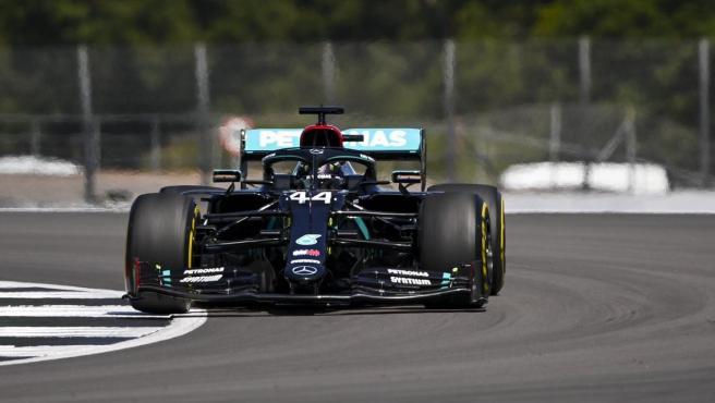Lewis Hamilton, durante el GP de Gran Bretaña