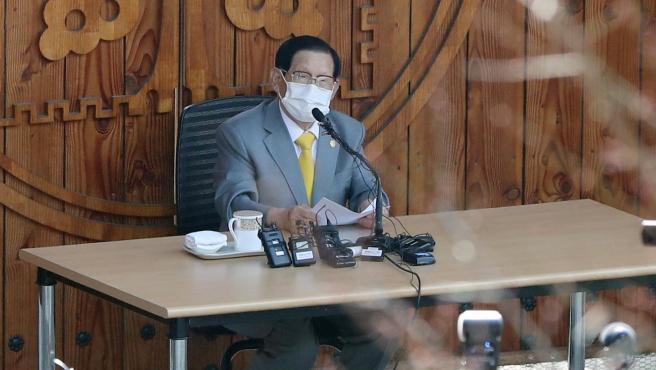 El líder de la secta cristiana surcoreana Shincheonji, Lee Man-hee, en una imagen de archivo.