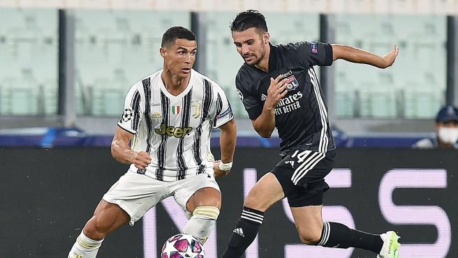 Cristiano Ronaldo, durante el Juventus - Olympique de Lyon