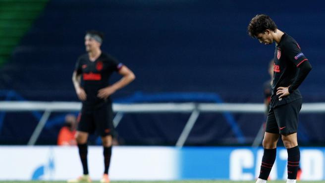 Joao Félix, cabizbajo en el RB Leipzig - Atlético de Madrid