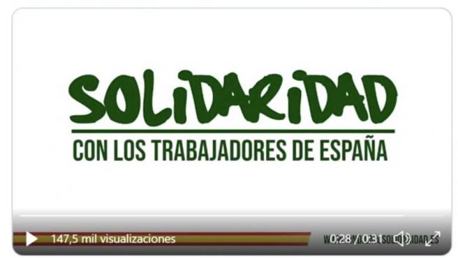 Pantallazo del video de Solidaridad, el sindicato creado por Vox.