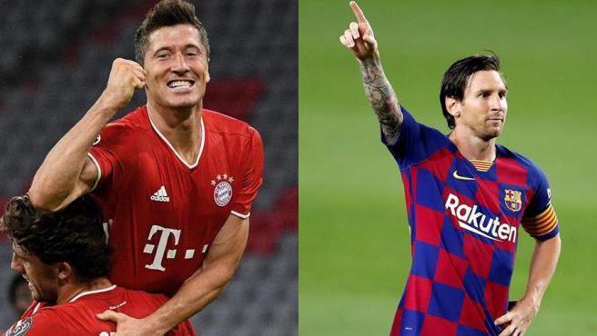 Lewandowski y Messi