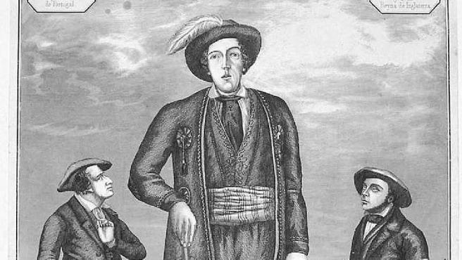 Miguel Joaquín Eleicegui Arteaga en una xilografía de mediados del siglo XIX.