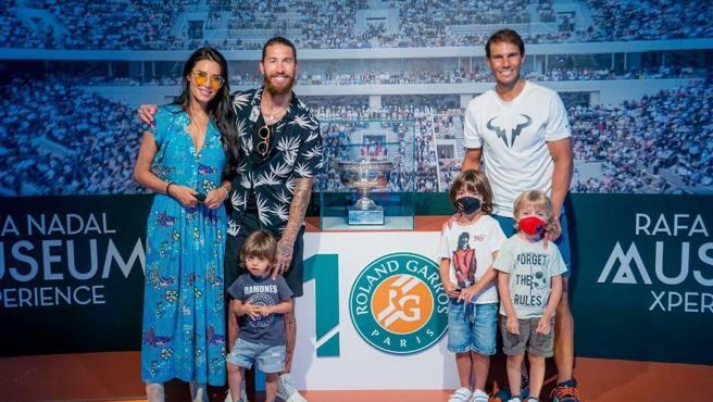 Familia de Sergio Ramos y Rafa Nadal