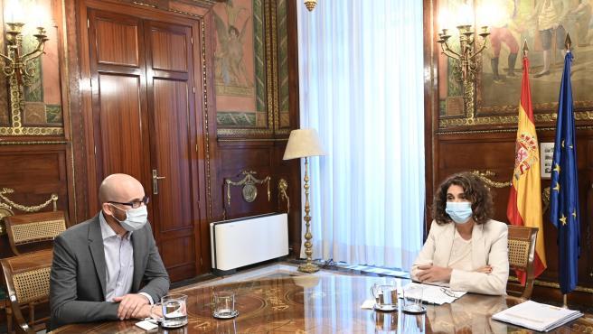 María Jesús Montero y Nacho Álvarez en su reunión de este martes.