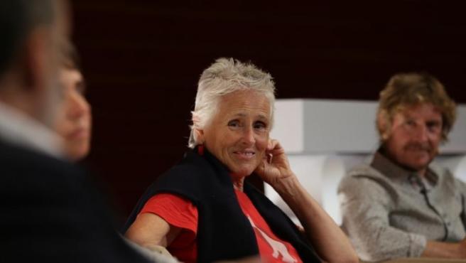 Mercedes Milá, en el FesTVal de Vitoria, presentando 'Scott y Milá'.