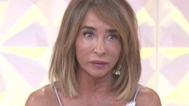 María Patiño durante su confesión en el programa.