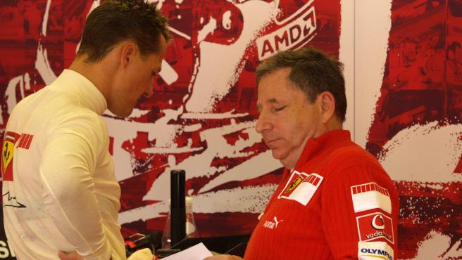 Michael Schumacher y Jean Todt, en su época en Ferrari