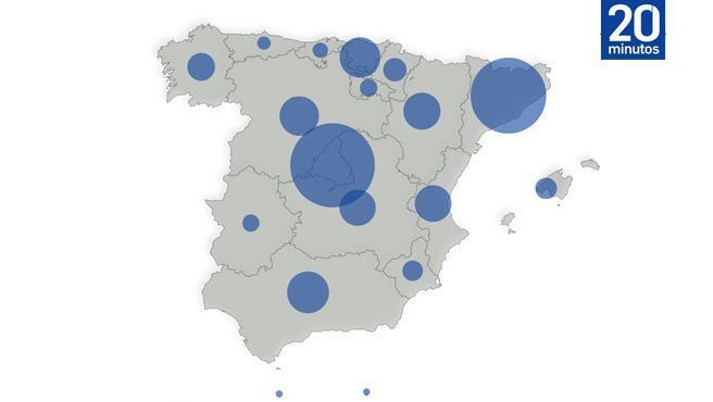 El Ministerio de Sanidad ha notificado este lunes un total de 27.404 nuevos casos de coronavirus durante el fin de semana en toda España -593.730 en total en la pandemia-, siendo Madrid la comunidad con mayor incidencia de contagios.
