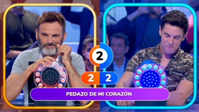 Fernando Tejero y Alejo Sauras, en 'Pasapalabra'