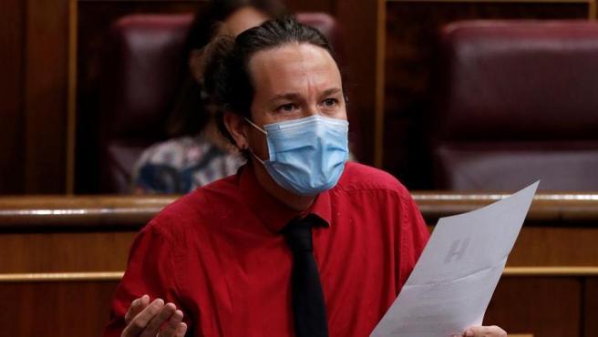 El vicepresidente segundo del Gobierno, Pablo Iglesias, este miércoles.
