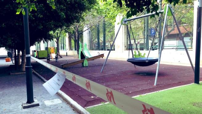 Parque de la ciudad de València durante la pandemia de Covid-19