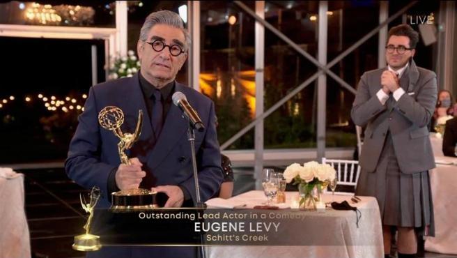 El actor Eugene Levy, ganador del Emmy al mejor actor de comedia.