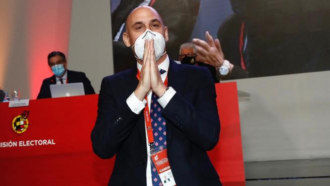 Luis Rubiales tras su reelección