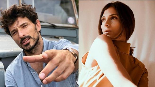Andrés Velencoso y Paula Gómez, en sendas fotos de sus cuentas de Instagram.