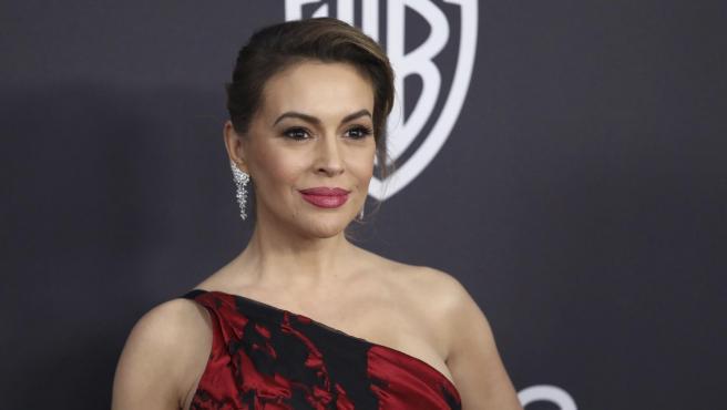 La actriz Alyssa Milano.