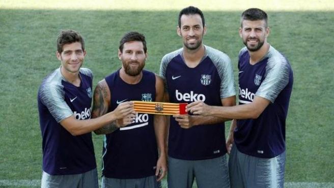 Messi, Busquets, Piqué y Sergi Roberto repiten como capitanes del FC Barcelona