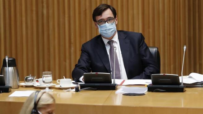El ministro de Sanidad, Salvador Illa, comparece ante la Comisión de Sanidad este 23/09.