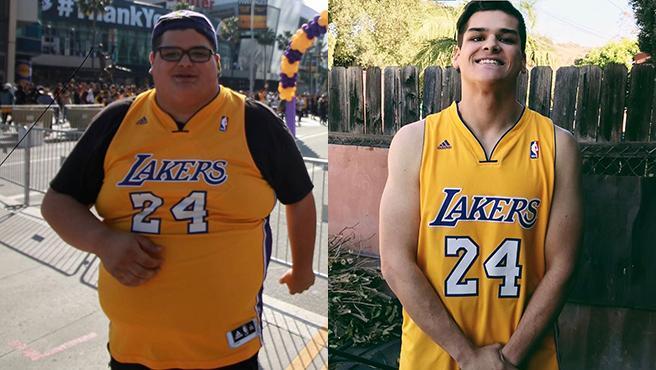 Christopher Huerta, antes y después.