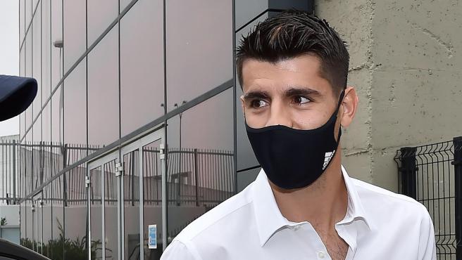 Álvaro Morata, en su vuelta a la Juventus