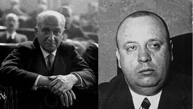 Largo Caballero e Indalecio Prieto.