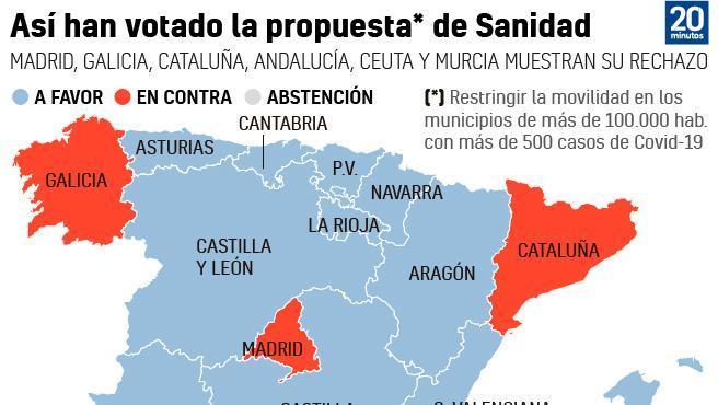 Cinco autonomías rechazan el plan de Illa para cerrar 10 municipios