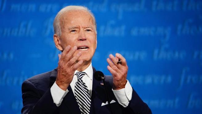 El ex vicepresidente de EE UU y candidato demócrata a la presidencia, Joe Biden, durante el primer debate electoral.