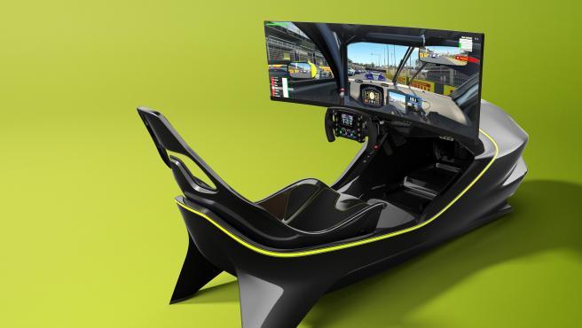 El Aston Martin AMR-C01, el primer simulador de carreras presentado por la marca británica.