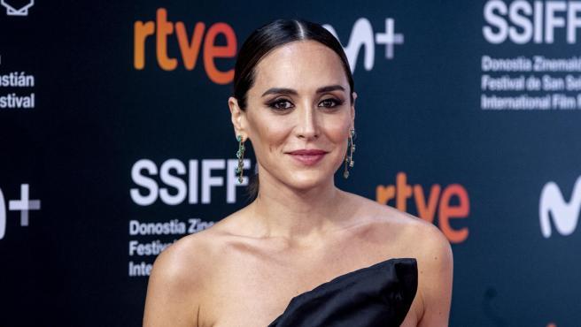 Tamara Falcó en el photocall del Festival de cine de San Sebastian.