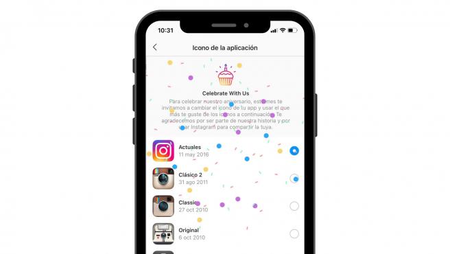 para celebrar el décimo aniversario de la aplicación, han implementado un pequeño regalo 'secreto': te contamos cómo puedes cambiar el icono de Instagram en Android e iOS.