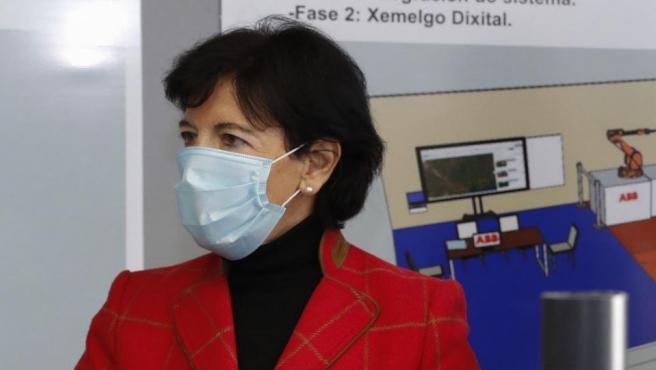 La ministra de Educación, Isabel Celáa, esta semana en Santiago de Compostela.