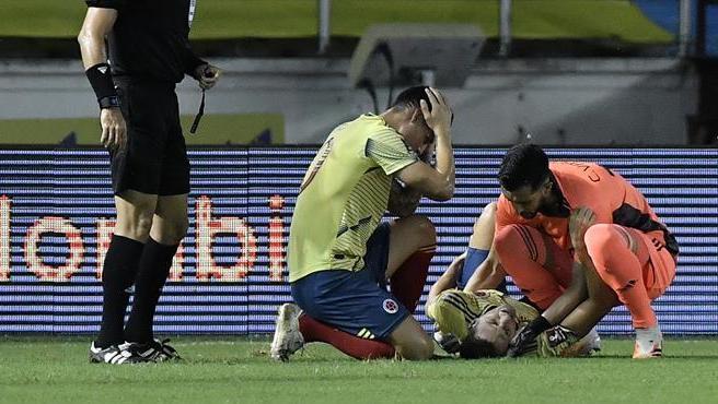 Lesión de Santiago Arias