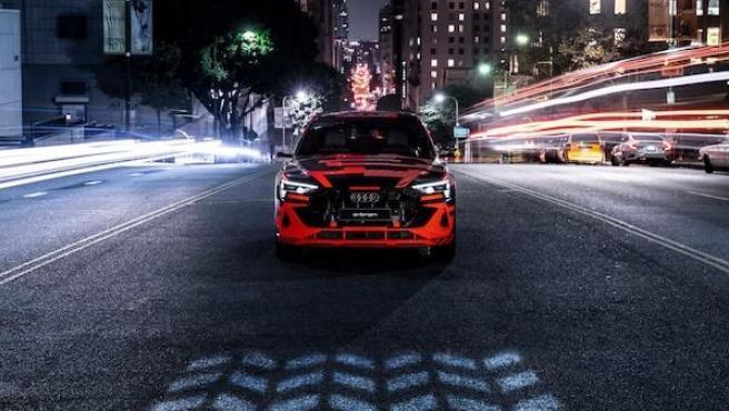 El Audi e-tron Sportback con los faros Digital Matrix LED.