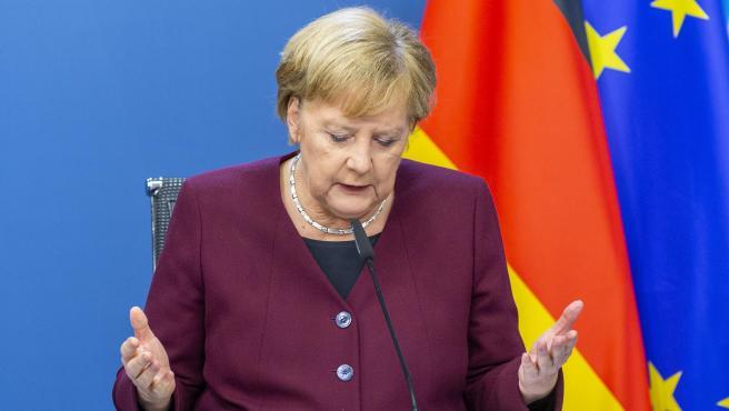 La canciller de Alemania, Angela Merkel, este viernes.