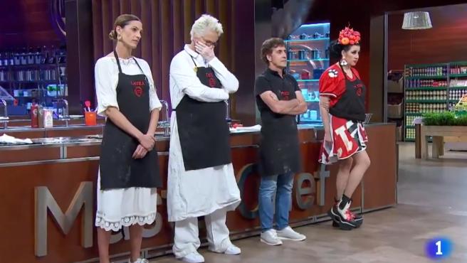 Los jueces comunican su decisión tras la prueba de eliminación en 'MasterChef Celebrity 5'.