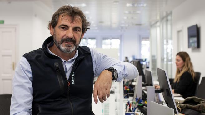 El director y fundador de la ONG Open Arms, Óscar Camps, en la redacción de 20 Minutos en Barcelona.
