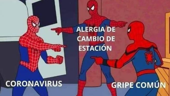 Meme de spiderman.