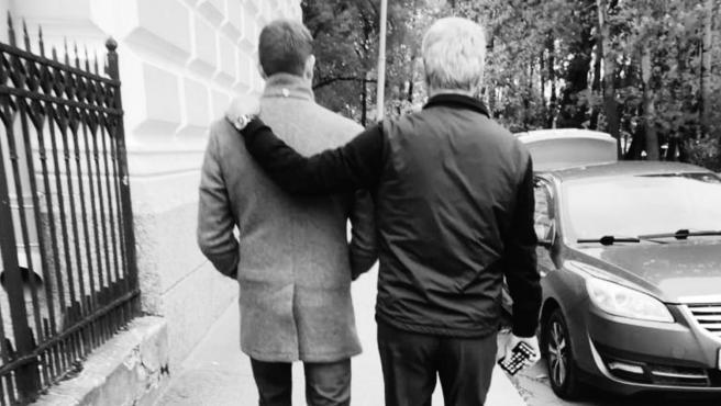 Vitaly Petrov y su padre Alexander