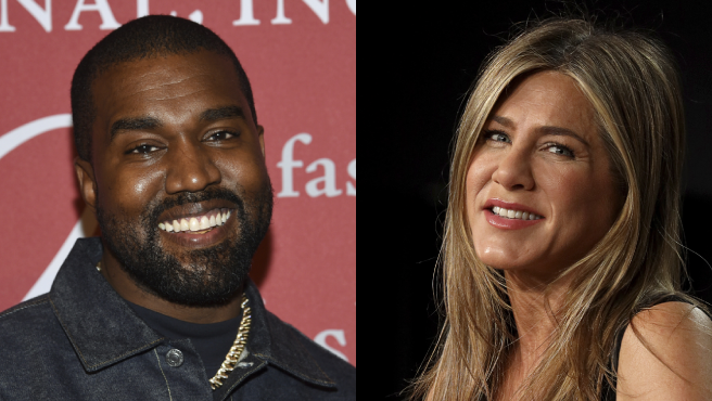 Kanye West y Jennifer Aniston.