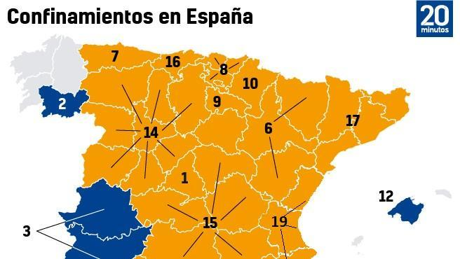Confinamientos en España