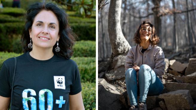 Mar Asunción, responsable de clima y energía en WWF España y Naiara Fernández, portavoz de Fridays For Future.