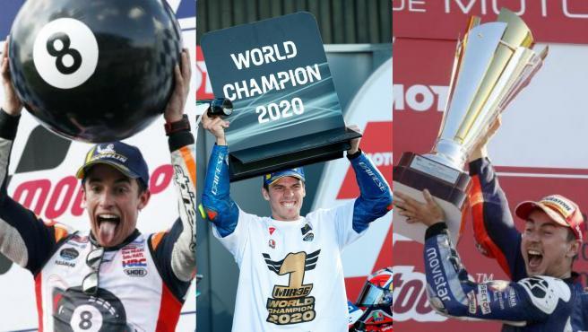 Márquez, Mir y Lorenzo, campeones de MotoGP