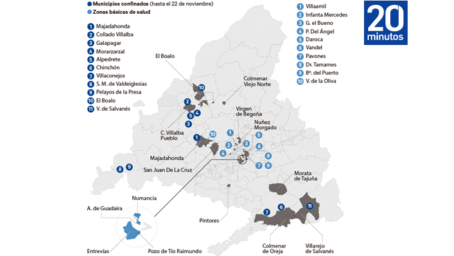 Restricciones en Madrid hasta el 22 de noviembre por la evolución del coronavirus.