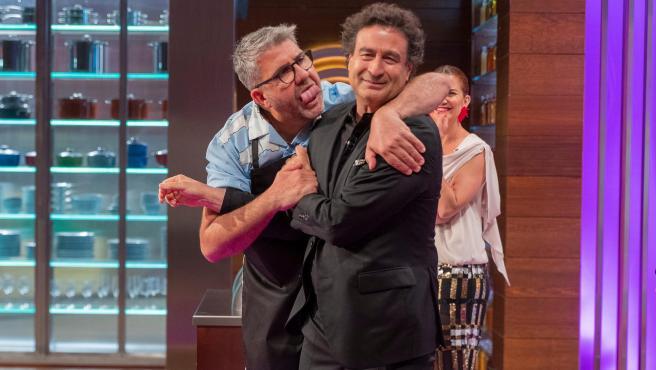 Florentino Fernández haciendo su personaje Flosie en 'MasterChef Celebrity'.