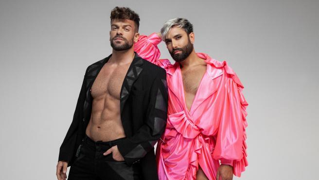 Los artistas Conchita Wurst y Ricky Merino