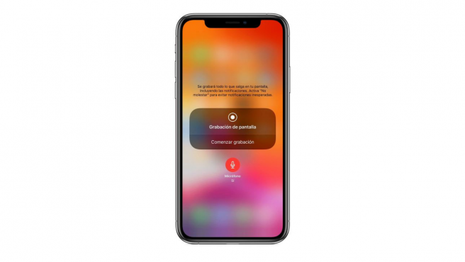 Así se muestra la cuenta atrás de iOS antes de grabar la pantalla.