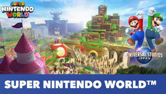 Imagen promocional del nuevo parque temático Super Nintendo World.