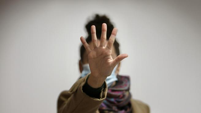 Imagen contra la violencia machista.